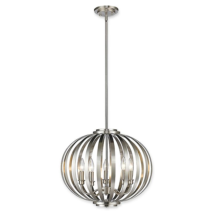 Alternate image 1 for Filament Design Clay 5-Light Large Round Pendant in Brushed Nickel