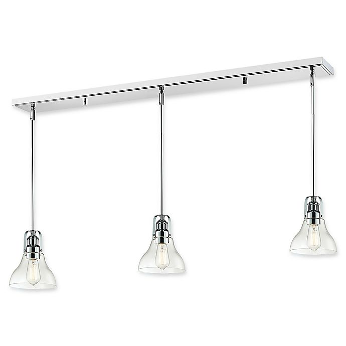 Alternate image 1 for Filament Design Faye 3-Light Ceiling Mount Light in Chrome with Glass Shades