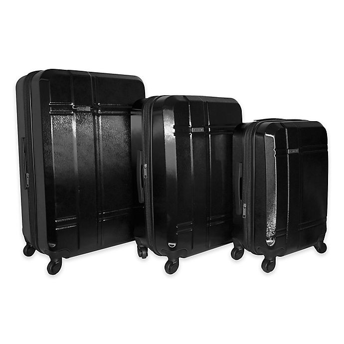 Alternate image 1 for Isaac Mizrahi Conway 3-Piece Hardside Spinner Luggage Set