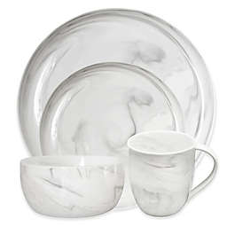 Artisanal Kitchen Supply® Coupe Marbleized Dinnerware Collection in Grey