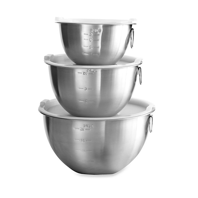 Alternate image 1 for SALT™ 3-Piece Stainless Steel Mixing Bowl Set