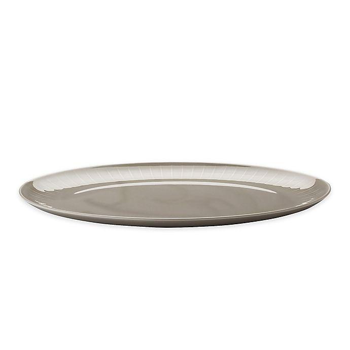 Alternate image 1 for Rosenthal Azberg Joyn 15-Inch Oval Platter in Grey
