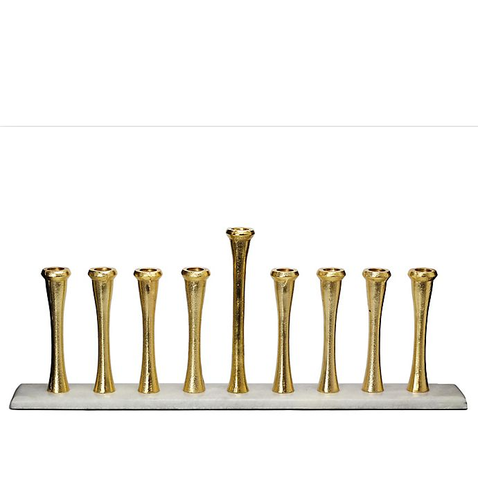 Alternate image 1 for Classic Touch Relic Menorah in Gold/White