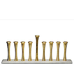 Classic Touch Relic Menorah in Gold/White