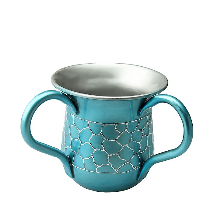 Alternate image 1 for Classic Touch Relic Wash Cup with Enamel Finish in Teal