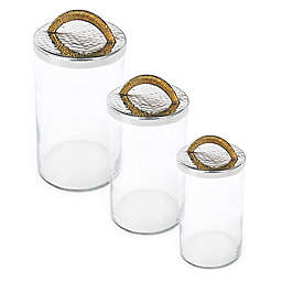 Classic Touch Tervy Canister in Gold