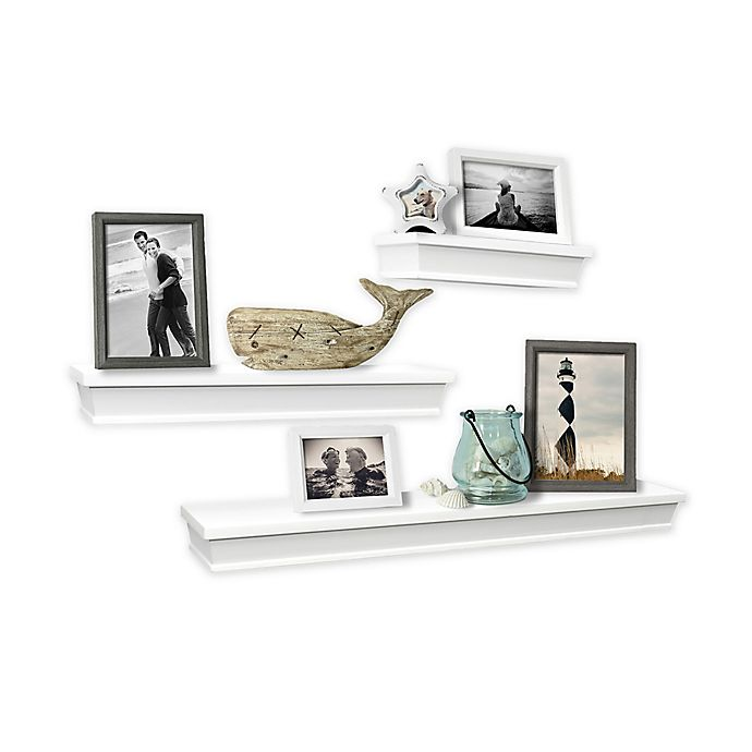 Alternate image 1 for SALT™ 3-Piece Gallery Wood Shelf Set in White