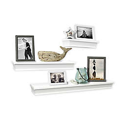 SALT™ 3-Piece Gallery Wood Shelf Set in White