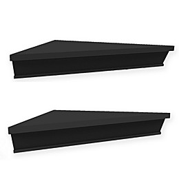 Wall Solutions Ledge 2-Piece Corner Shelf Set