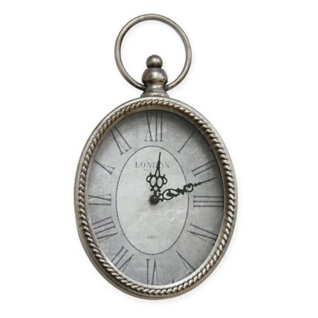 Stratton Home D 233 Cor Small Antique Oval Wall Clock In