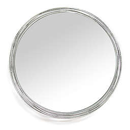 Stratton Home Décor 29 1/2-Inch Round Jocelyn Wall Mirror in Silver