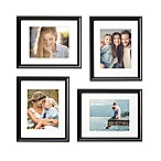 Gallery 8-Inch x 10-Inch  Frame in Satin Black (Set of 4)