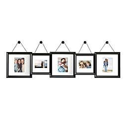 Gallery 5-Photo  Hanging Finial Frame Set in Satin Black