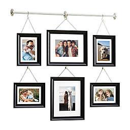 Gallery 6-Photo  Hanging Bar Frame Set in Satin Black
