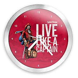 Captain Morgan® Round Wall Clock in Brushed Aluminum