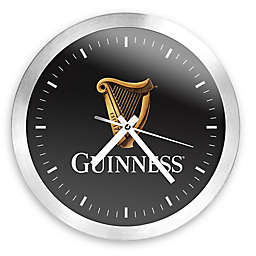 Guinness® Round Wall Clock in Brushed Aluminum