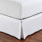 De Moocci Easy Wrap Tailored King Bed Skirt in White