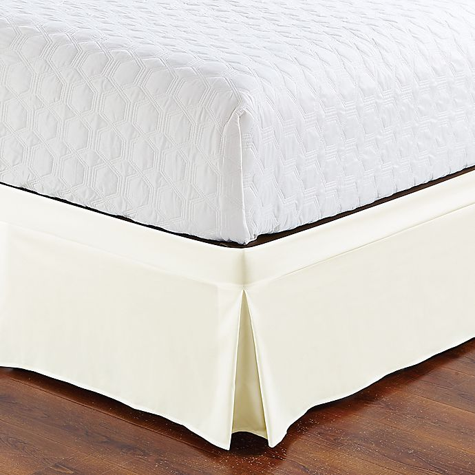 Alternate image 1 for De Moocci Easy Wrap Tailored Twin Bed Skirt in Cream