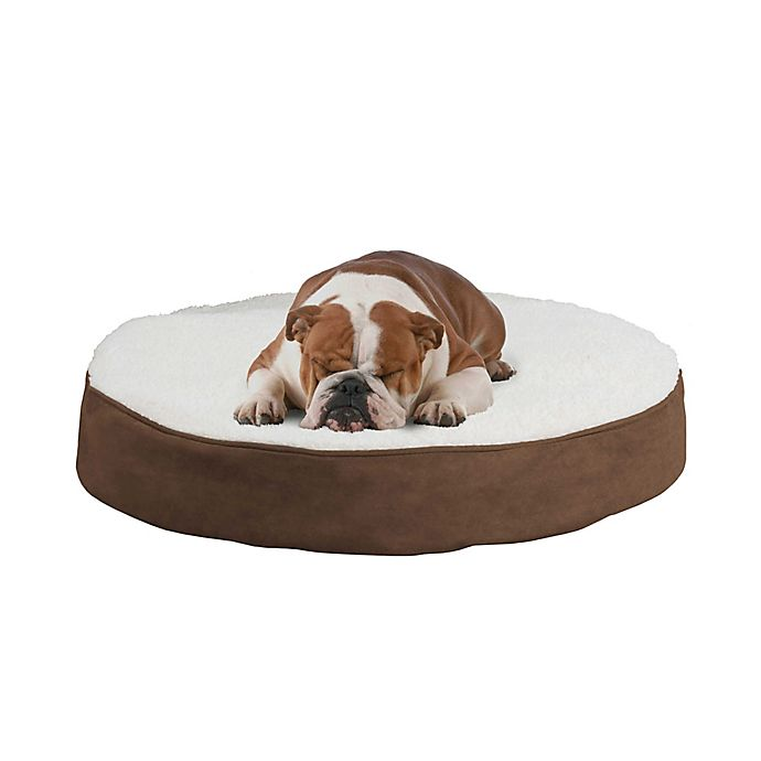 Alternate image 1 for PETMAKER™ Reversible Round Memory Foam Pet Bed