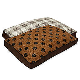MyPillow® Cotton/Poly Medium Pet Bed in Brown