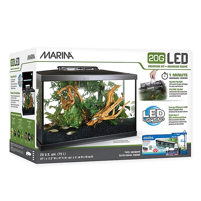 Alternate image 1 for Marina 20-Gallon LED Aquarium
