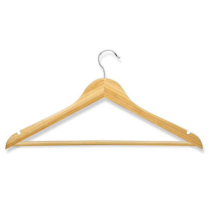 Alternate image 1 for Honey-Can-Do® 4-Pack Wooden Suit Hangers