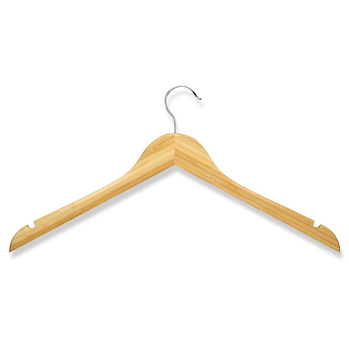 Alternate image 1 for Honey-Can-Do® 5-Pack Wooden Shirt Hangers