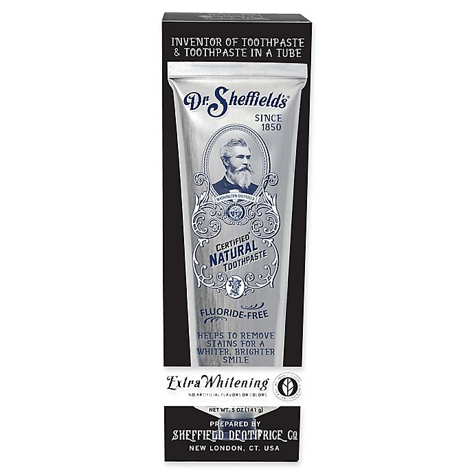 Alternate image 1 for Dr. Sheffield's® 5 oz. Natural Extra Whitening Toothpaste
