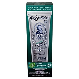 Dr. Sheffield's® 5 oz. Natural Wintergreen Toothpaste
