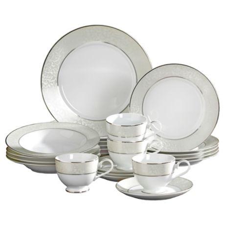 4ace54a24ea Mikasa® Parchment 20-Piece Fine China Dinnerware Set
