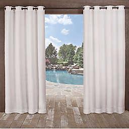 Delano Indoor/Outdoor 108-Inch Grommet Top Window Curtain Panel in White