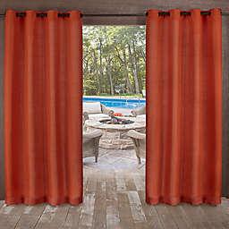 Delano Indoor/Outdoor 108-Inch Grommet Top Window Curtain Panel in Orange (Single)