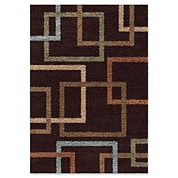 Orian Rugs Impressions Cuffing Shag Area Rug in Mocha