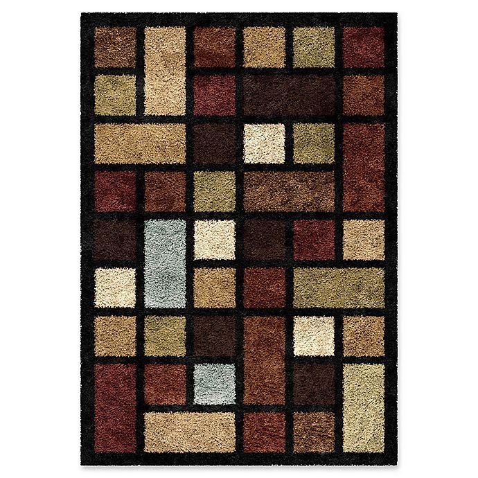 Alternate image 1 for Orian Domino Blocks 5-Foot 3-Inch x 7-Foot 6-Inch Shag Area Rug in Multi
