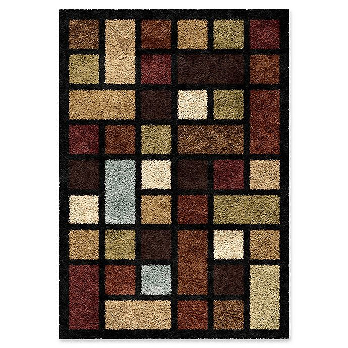 Alternate image 1 for Orian Domino Blocks 7-Foot 10-Inch x 10-Foot 10-Inch Shag Area Rug in Multi