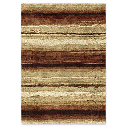 Orian Rugs Impressions Shag Sundown Area Rug in Red