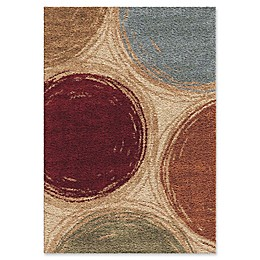 Orian Rugs Impressions Shag Sketching Circles Multicolor Area Rug