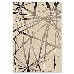 Orian Rugs Epiphany Abstract Thunder Woven Area Rug in Ivory