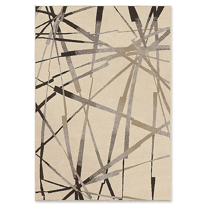 Alternate image 1 for Orian Rugs Epiphany Abstract Thunder Woven 7'10 x 10'10 Area Rug in Ivory