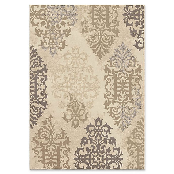 Alternate image 1 for Orian Rugs Epiphany Anzio Scroll Woven 5'3 x 7'6 Area Rug in Ivory