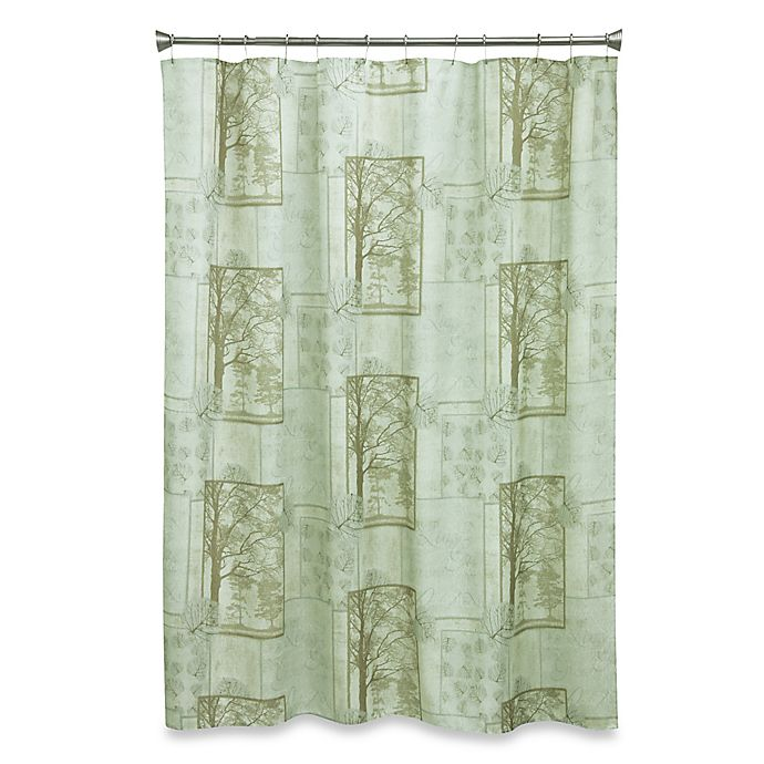 Alternate image 1 for Solitude 70-Inch x 72-Inch Fabric Shower Curtain