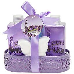 Freida & Joe Wire Basket Lavender Fragrance Bath & Body Set