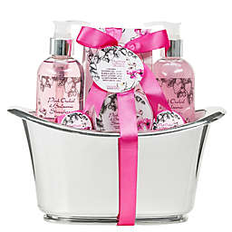 Freida & Joe Pink Orchid & Balsamic Strawberry Tub Spa Set