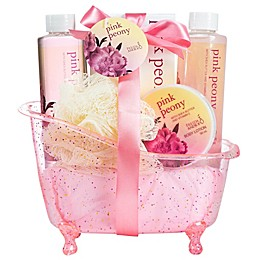 Freida & Joe Pink Peony Bath Spa Set