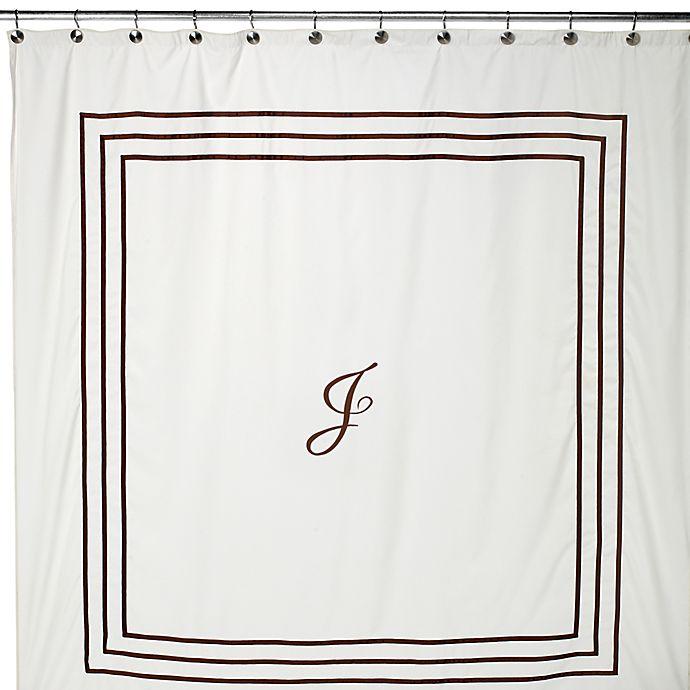 Aussino Monogram 70 Inch W X 72 L Shower Curtain J