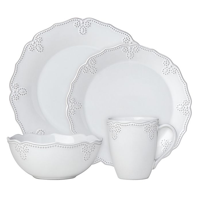 Alternate image 1 for Lenox® French Carved™ Scalloped 4-Piece Place Setting