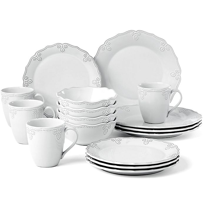 Alternate image 1 for Lenox® French Carved™ Scalloped 16-Piece Dinnerware Set