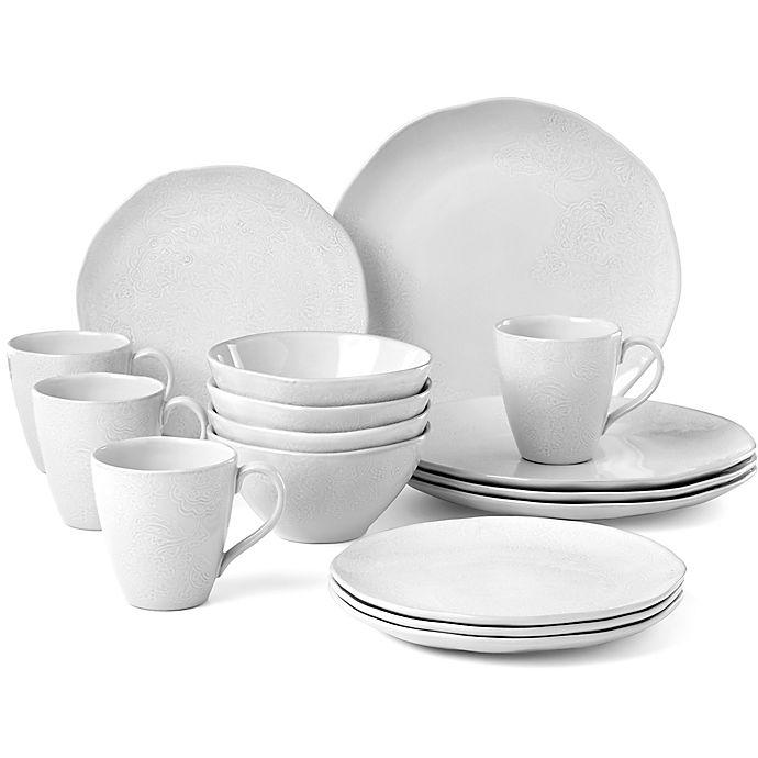 Alternate image 1 for Lenox® French Carved™ Flower 16-Piece Dinnerware Set