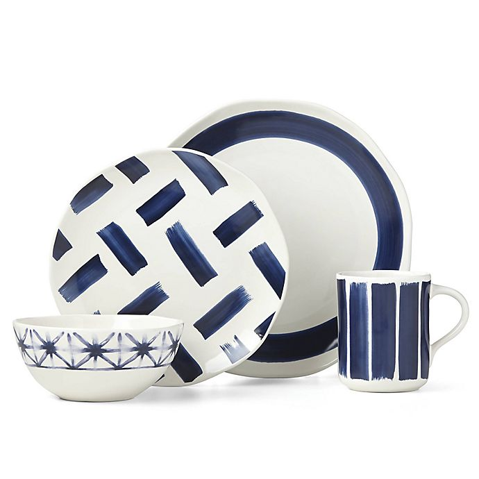 Alternate image 1 for Lenox® Painted Elements™ Indigo Brushed Dinnerware Collection