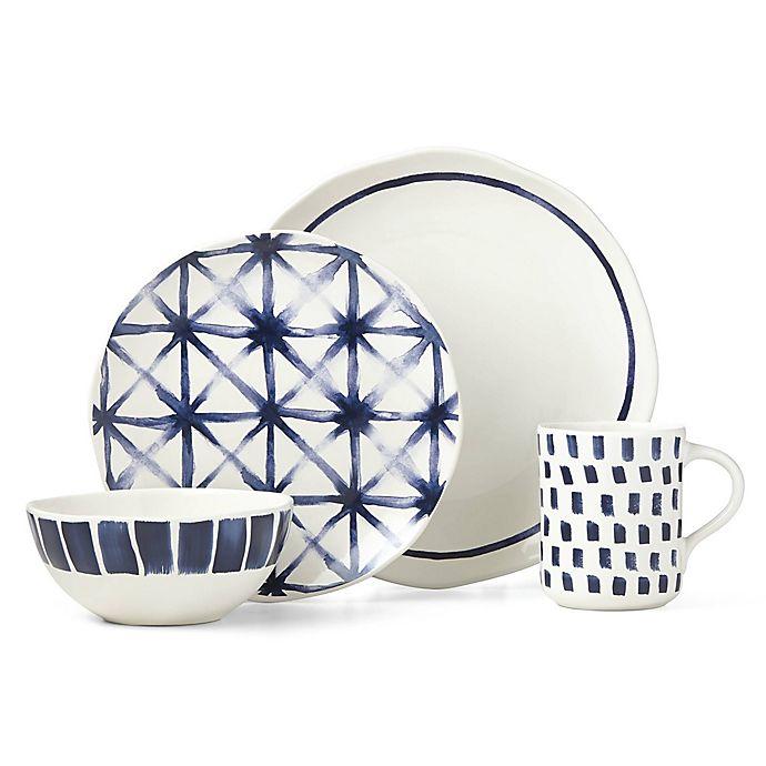 Alternate image 1 for Lenox® Painted Elements™ Indigo Sketch 16-Piece Dinnerware Set